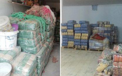 Ben Guerdane : Saisie de 76 tonnes de produits alimentaires subventionnés, destinés au trafic vers la Libye