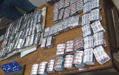 Jendouba : Deux individus arrêtés en possession de plus de 5.880 pilules de drogue