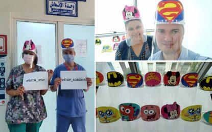 «Stop Corona with love» : Des visières de protection offerts aux hôpitaux pour enfants (Photos)