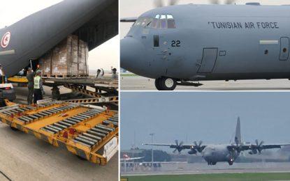 Tunisie : Arrivée de l'avion militaire chargé d'équipements médicaux achetés à Hong Kong