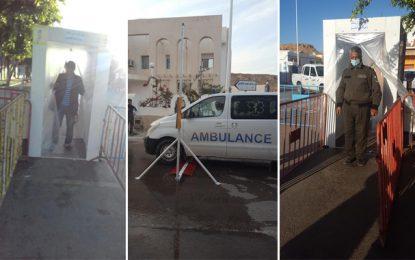 Action citoyenne : Des tunnels de désinfection à Ghomrassen, pour lutter contre le coronavirus (Photos)