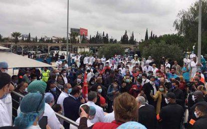 Inauguration de l'unité Covid-19 à l'hôpital Sahloul : La distanciation sociale totalement bafouée