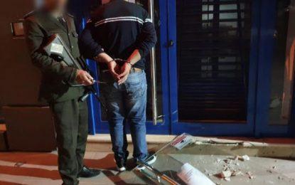 Boumhel: Un individu arrêté en flagrant délit de tentative de cambriolage d'une agence bancaire