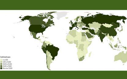 Une lecture de la carte mondiale de la pandémie de Covid-19