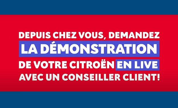 Citroën Tunisie propose à ses clients une démonstration live sans se déplacer