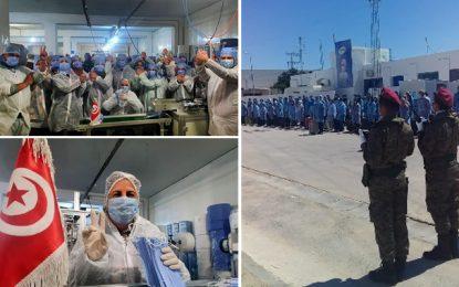 Kairouan : Hommage aux employés de Consomed, confinés à l'usine depuis le 20 mars pour fabriquer des masques de protection