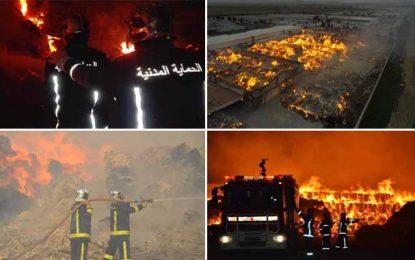 Enfidha : Après 3 jours de lutte contre les flammes, l'incendie dans l'usine totalement maîtrisé (Photos)