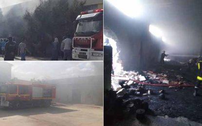 Monastir : Incendie dans une usine de coton à Menzel Hayet (Photos)