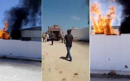 Monastir : Incendie dans une usine de câbles à Ksar Hellal