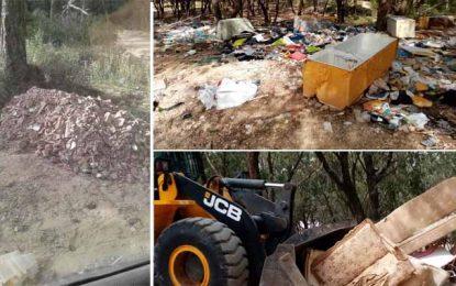 La Marsa : Campagne de nettoyage de la forêt de Jebel El-Khaoui, les citoyens appelés au civisme (Photos)