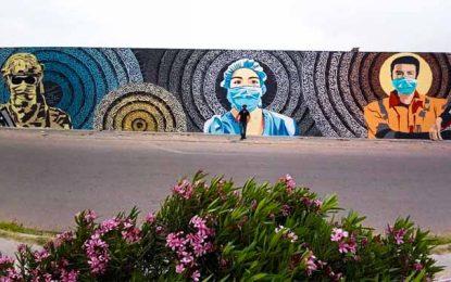 Médenine : Une fresque murale en hommage aux soldats de première ligne contre le coronavirus (Photos)