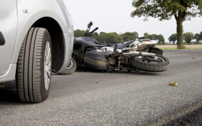 Jendouba : Collision mortelle entre une voiture et une moto