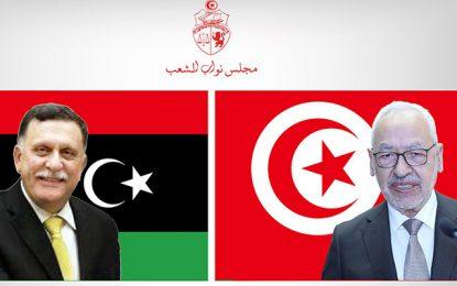 Entetien Ghannouchi – Sarraj : La présidence de l'ARP tente de sauver la mise