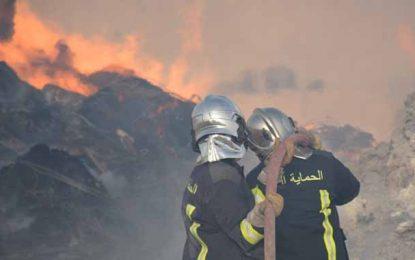 Béja: Deux incendies simultanés ravagent 8 hectares de blé
