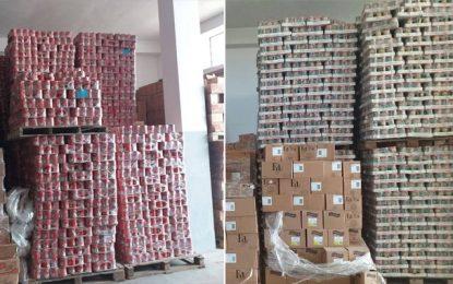 Spéculation : Saisie de près de 240.000 boîtes de tomates en conserve
