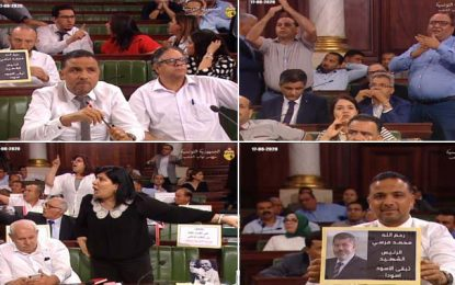 Chamailleries, insultes et accusations à l'Assemblée, à cause du portrait de Morsi, brandi par Al-Karama
