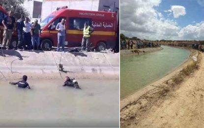 Drame à Sidi Hassine : Décès, par noyade, de 3 enfants au canal Medjerda