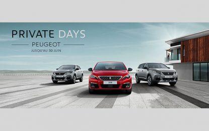 Les Private Days Peugeot en mode soirée jusqu'à la fin juin