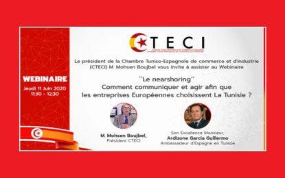 Webinaire : Le nearshoring pour positionner la Tunisie par rapport à l'Europe