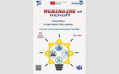 Enseignement supérieur : Webinaire de lancement du projet Practice-Jawda