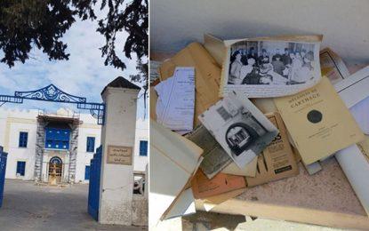 Après l'altération de la façade du siège de Beït El Hikma, des documents de l'historien Azedine Beschaouch ont été détruits (Photos)