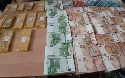 Skhira : Treize lingots d'or et près de 600.000 euros saisis par la douane (Photos)