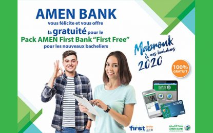 Offre de la gratuité du Pack Amen First Bank «First Free» pour les nouveaux bacheliers