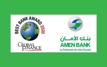 Amen Bank élue «Meilleure banque en Tunisie en 2020» par Global Finance