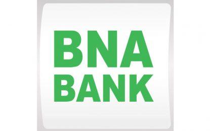 BNA Bank annonce un PNB en hausse de 2,3% au 1er semestre 2020