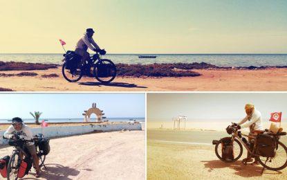 Tunis-Chott El-Jérid : Yasser Jeradi à vélo, pour la promotion du tourisme saharien et du transport écologique (Photos & vidéos)