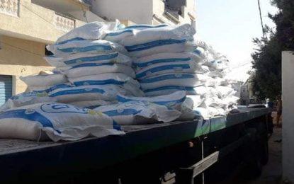 Spéculation : Saisie de 30 tonnes de sucre subventionné à l'Ariana