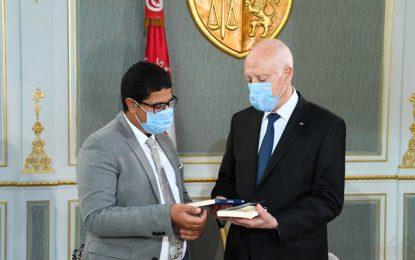 Kaïs Saïed reçoit Amir Fehri, ambassadeur de la francophonie et de la jeunesse arabe créative (Vidéo)