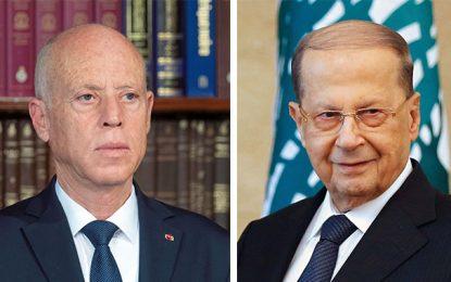 Double explosion à Beyrouth : Saïed exprime la solidarité de la Tunisie avec le Liban