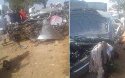 Kairouan : Trois morts et 6 blessés dans un accident de la route