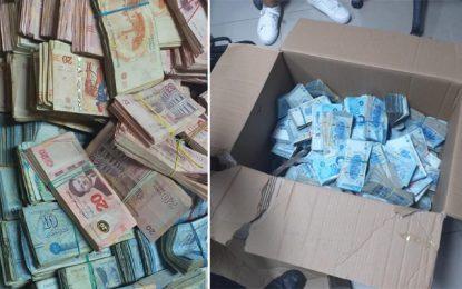 Contrebande : Saisie d'un million de dinars dans une boutique à Menzel Bourguiba