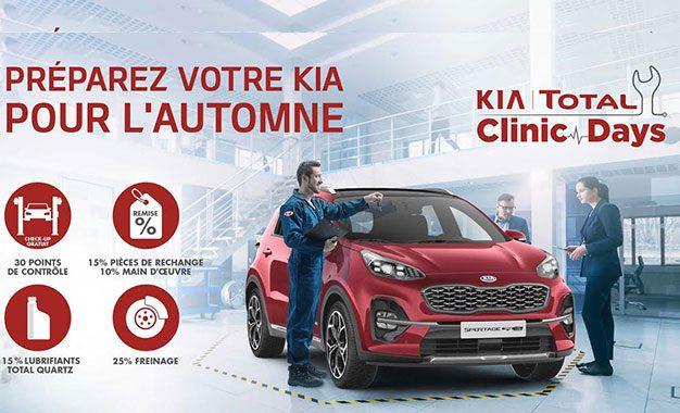 Kia | Total Clinic Days (automne 2020) au réseau  City Cars