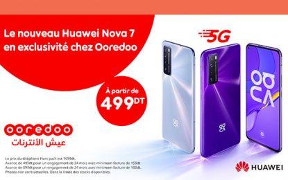 Ooredoo propose en exclusivité le Huawei Nova 7 5G à partir de 499 DT