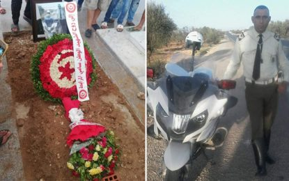 Moknine : L'adjudant martyr Sami Mrabet accompagné à sa dernière demeure (Photos)
