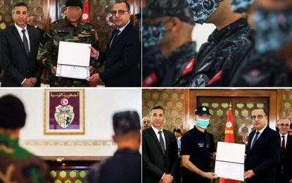 Opération d'Akouda : Les sécuritaires honorés par le chef du gouvernement Hichem Mechichi (Photos & vidéo)
