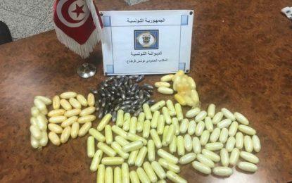Tunis-Carthage : Saisie de 120 capsules de cocaïne et 50 de cannabis en possession de 5 voyageuses