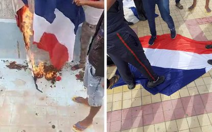 Les hors-la-loi d'El-Kamour brûlent le drapeau de la France