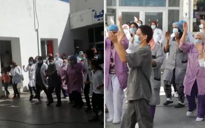 Flash mob à l'hôpital Habib Thameur : le personnel médical transmet un message d'espoir (Vidéo)