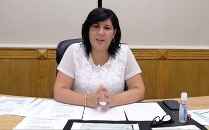Abir Moussi répond à Bochra Belhaj Hmida concernant les accusations à l'encontre de son mari