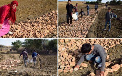 Construction d'un chemin de pierres par les habitants de Balta Bou Aouane : Précisions de la municipalité