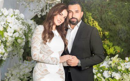 Dorra Zarrouk heureuse d'épouser celui que son cœur a choisi, l'architecte et homme d'affaires égyptien Hany Saad