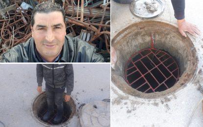Tunisie : Karim Arfa fabrique des barrières de protection pour les bouches d'égout avec de la ferraille recyclée