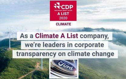 Ford distinguée pour sa stratégie en matière de développement durable
