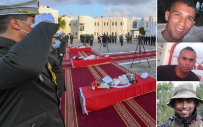 Tunisie : Hommage aux gardes nationaux décédés dans un accident de la route à Kasserine (Photos)
