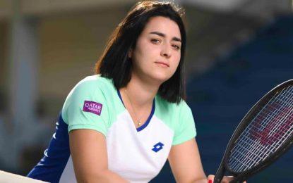 La tenniswoman tunisienne Ons Jabeur, ambassadrice de Qatar Airways