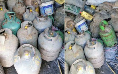 Sidi Bouzid : Découverte d'un entrepôt de stockage illégal de bouteilles de gaz domestique